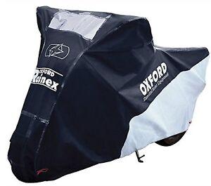 Motorcycle-Oxford-Rainex-Rain-amp-Dust-Cover-Black-Grey-Large