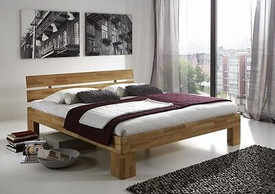 Holzbett massiv 180x200  Kunstlederbett Polsterbett Bettgestell Bett Rahmen Lattenrost ...