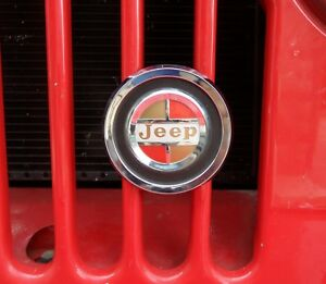 Jeepster-Jeep-CJ-Jeep-Gladiator-truck-Jeep-J-Series-Wagoneer-Grill-Badge