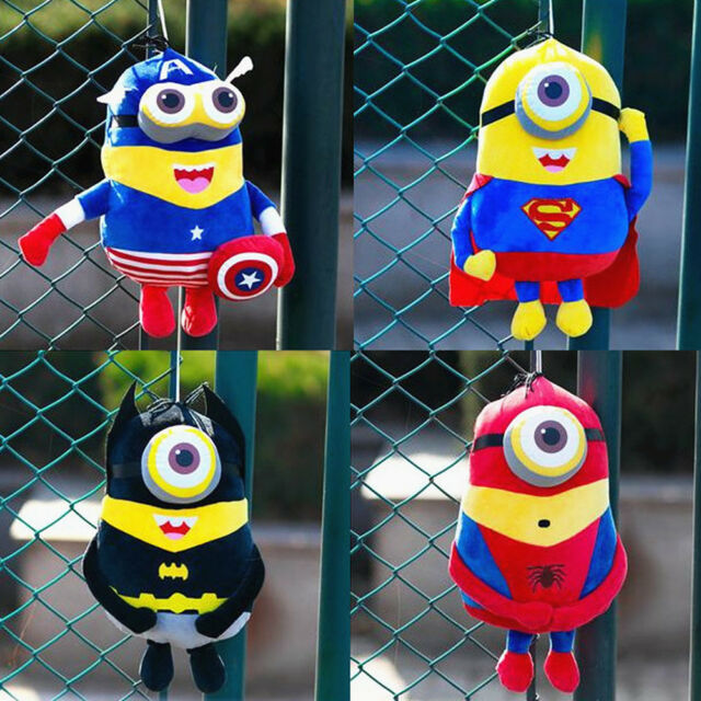 Cute Minions Hero Cosplay Figures Stuffed Plush Soft Doll Kids Children Baby Toy