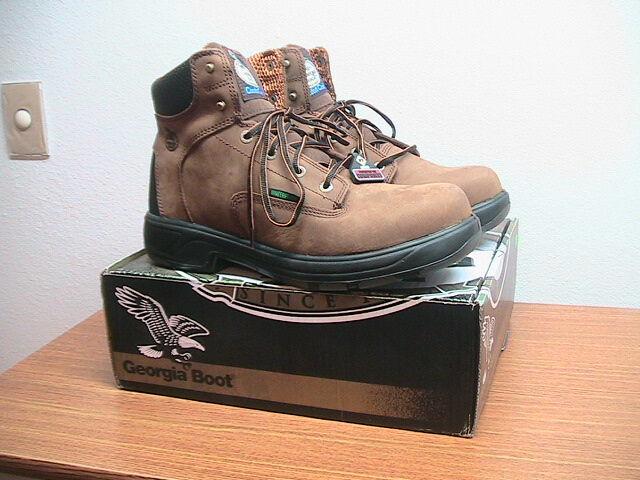 Mens 13 W Georgia G6644 FLX Punto Marrón Cuero Composite Toe botas de trabajo,