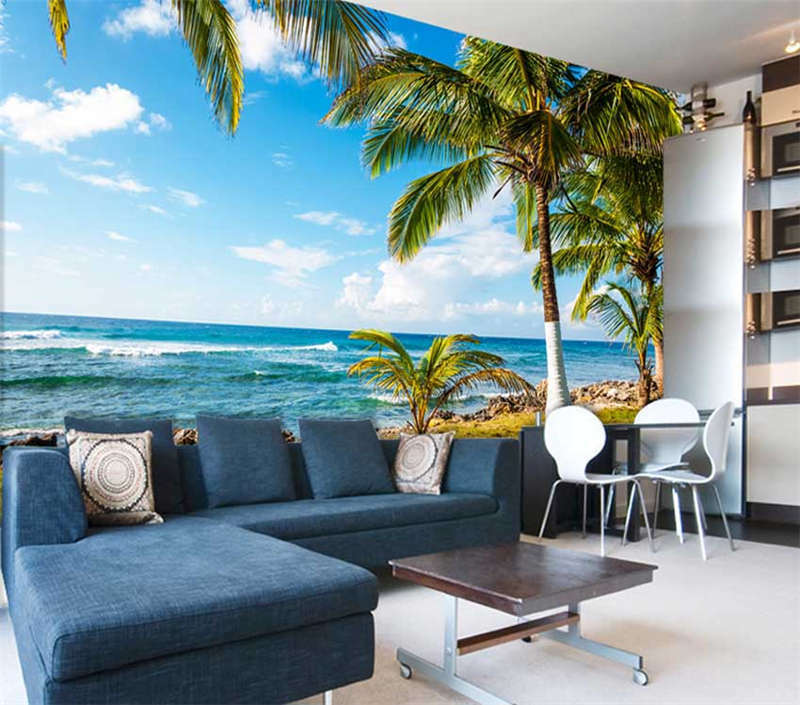 Bright Clear Water 3D Full Wall Mural Photo Wallpaper Printing Home Kids Decor