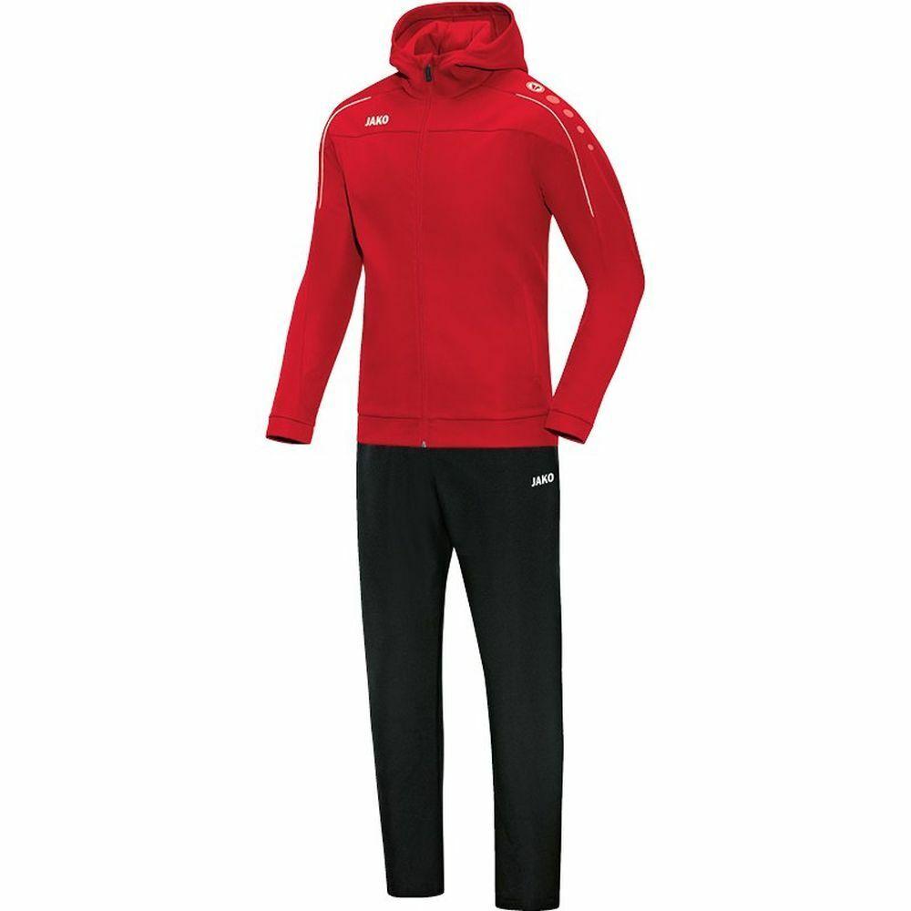 Jako Calcio Presentazione Tuta classico con cappuccio da donna sportivi tuta rosso