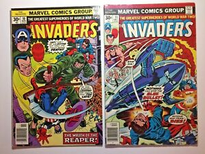 The-Invaders-Comic-book-10-amp-11-1976-Marvel-Bronze-Age-Reaper-Blue-Bullet