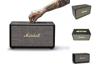 Image is loading Marshall-Stanmore-Wireless-Bluetooth-Stereo-Speaker-System- Black c0afa5b81da87