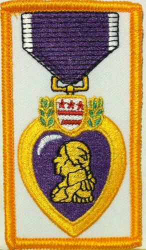 Purple Heart Medal Embroidered Patch W// VELCRO® Brand Fastener Tactical Morale