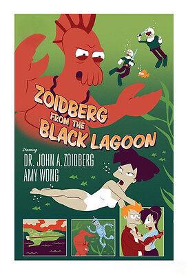 John Henselmeier Futurama SIGNED Art Print Zoidberg from the Black Lagoon