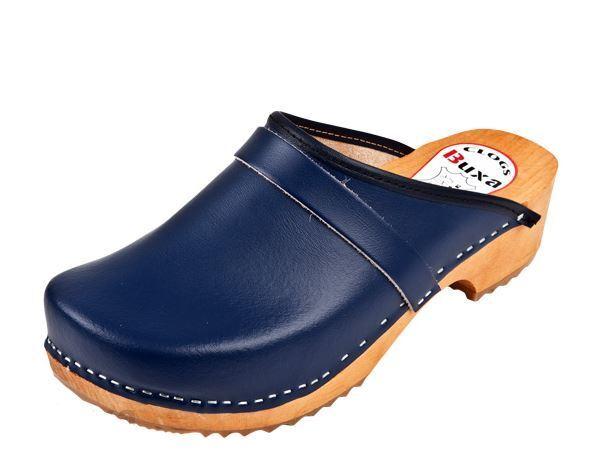 Zuecos de madera Color azul oscuro estilo sueco nos tamaño del zapato (hombres)