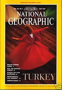 National-Geographic-May-1994-Turkey-Rice-Alaska-Tunnel-Cranes-Last-Judgment