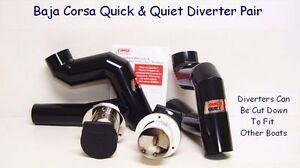 BAJA-CORSA-P83413-700U-MERCURY-8-1-BOAT-EXHAURST-QUICK-QUIET-DIVERTERS-PAIR