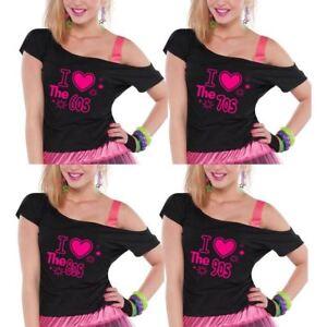 6f6d2a718e7 Ladies I Love The 60s 70s 80s 90s Top Pop Music Star Retro T-shirt ...