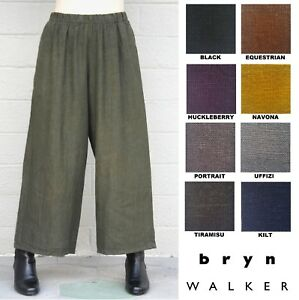 price remains stable discount price unparalleled Details about BRYN WALKER Heavy Linen FLOOD PANT Wide Crop Pocket Pants X S  M L XL FALL 2018