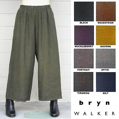 BRYN WALKER Light Linen LONG FULL PANT Wide Palazzo Pants X S M L XL SPRING 2018