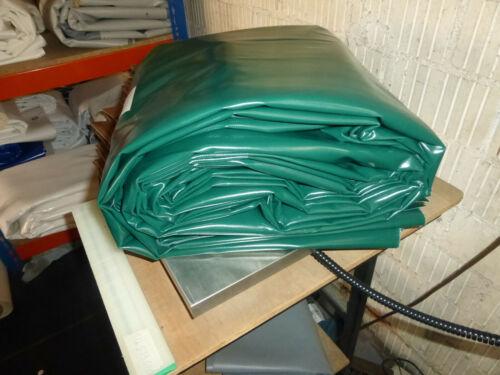 2,9€//m² PVC Folie Abdeckplane LKW Plane 13,60m x 2,45m ca 690g//qm grün B-Ware