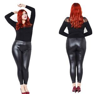 EP-Women-039-s-Faux-Leather-Stretch-Skinny-Pants-Leggings-Plus-Size-Slim-Trousers-W