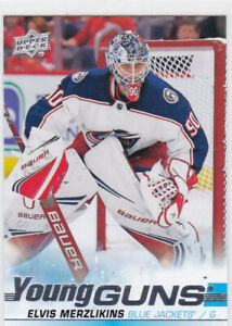19-20-UD-ELVIS-MERZLIKINS-YOUNG-GUNS-ROOKIE-CARD-466-BLUE-JACKETS