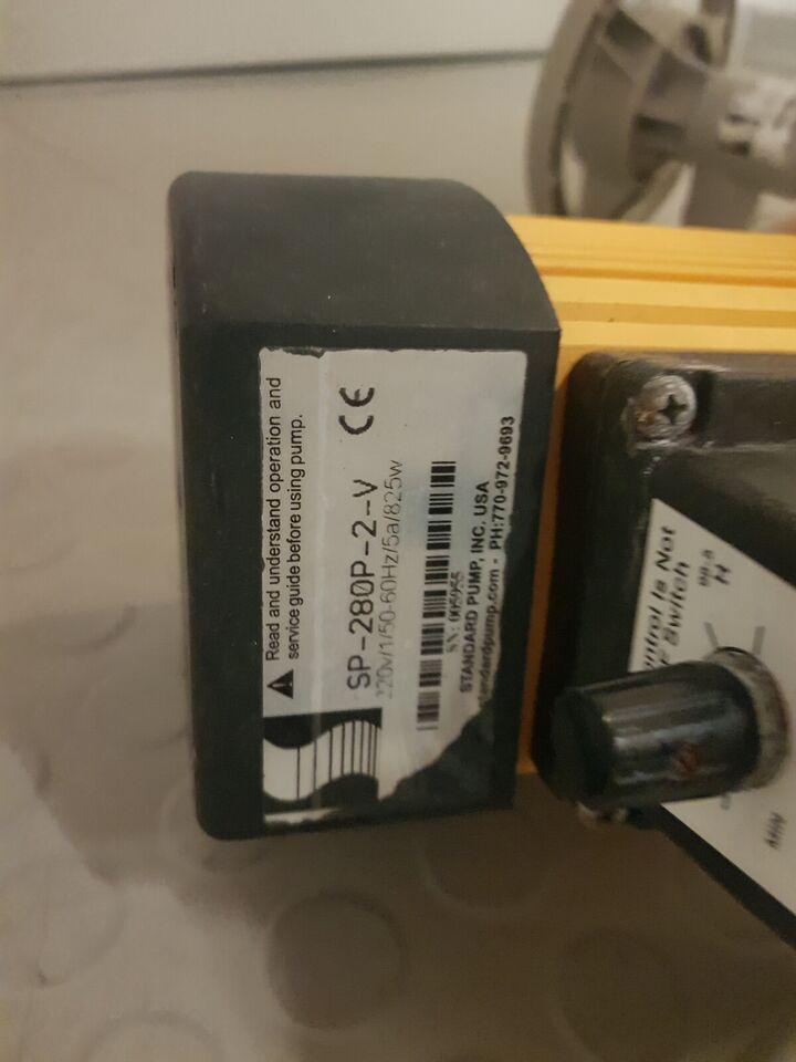 Pumpe til trumle/tønder, Standard pump