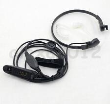 PTT Throat MIC Covert Acoustic Headset for Motorola GP328 HT750 HT1250 PRO5450