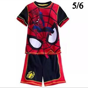 Boys Marvel 2pc Spider Man Jersey Shorts Set Size 4-7