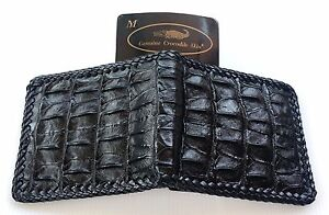 Genuine Real Bone Crocodile Alligator Skin Leather Man
