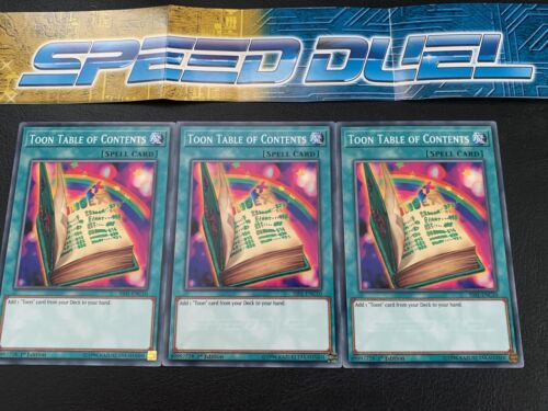 x3 Yugioh Toon Table Of Contents 1st Edition Playset NM Speed Dueling SS01