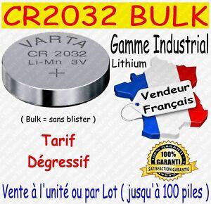 Lot de piles boutons CR2032 VARTA Lithium 3V - Disponibles aussi : CR2025 CR2016