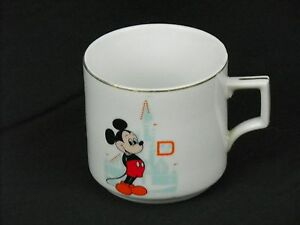 Disney-Mickey-Mouse-Mug-Walt-Disney-World-Castle-Coffee-Tea-Vintage-Japan-White