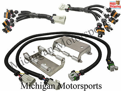 D510C LS Swap LS3 /& GEN V LT Billet Coil Relocation Bracket Harness Kit