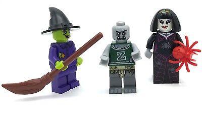 LEGO 2 NEW HALLOWEEN MINIFIGURES SPIDER QUEEN SISTERS VAMPIRE FEMALE FIGURES