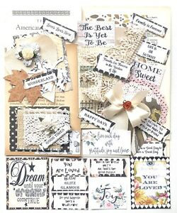 Junk-Journal-Supplies-100-Items-Scrapbook-Papers-Quotes-Vintage-Book-Pages