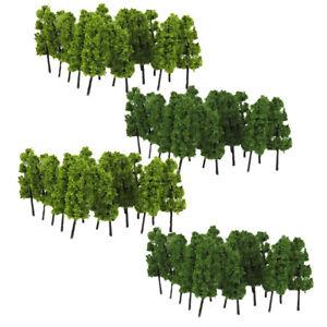 20pcs Plastic Model Tree Layout Train Railway Diorama Scenery 1:200 Scale