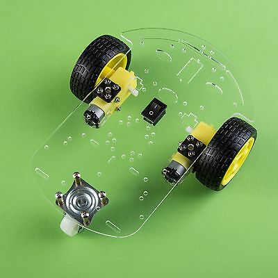 Smart Car Robot With Chassis And Kit (Arduino Controllable, New, from USA)