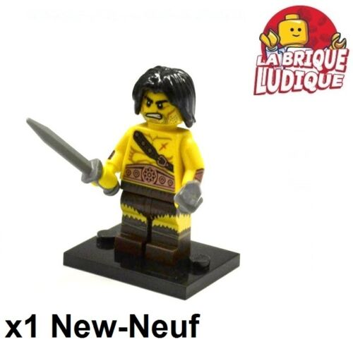 Figurine Minifig Minifigurine série 11 Barbarian barbare guerrier NEUF Lego