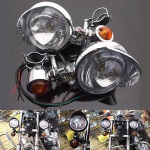 Motorcycle-Turn-Signal-Driving-Spot-Light-Bar-Fog-lights-Set-hardward-For-Harley