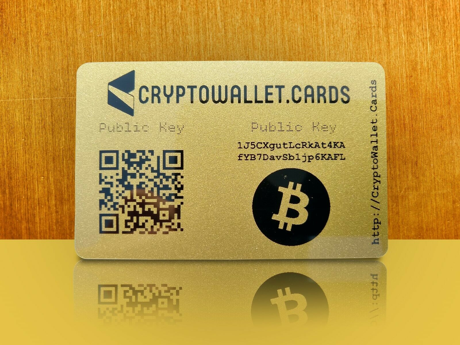 BITCOIN / BTC Cryptocurrency Storage Wallet Cards / Gift 2