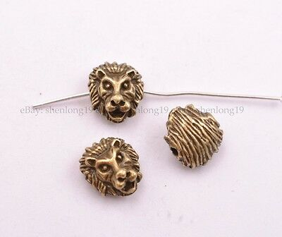 1-100Pcs Tibetan Silver Lion Head Spacer Beads for Bracklet Jewelry SH3029