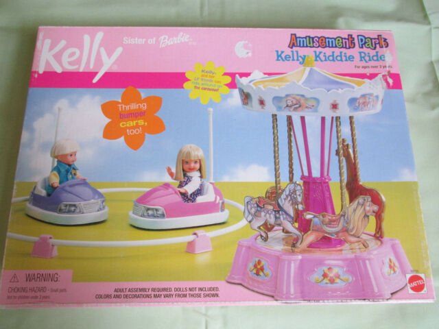NEW KELLY SISTER OF BARBIE DOLL AMUSEMENT PARK KIDDIE RIDE PLAYSET 88705 MATTEL