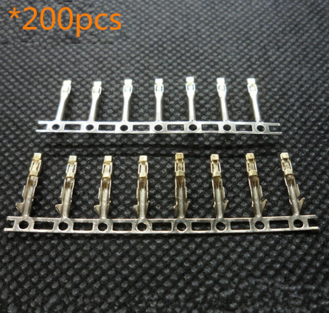 200* 2.54mm Dupont Jumper Wire Cable Housing Female Pin Connector Terminal Crimp