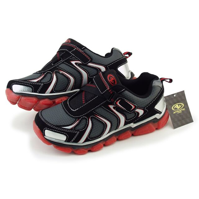 Buy Boys Athletic Works Sketchers Tennis Shoes Size 5 Red and Black ... 9f8c18874