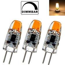 3X Dimmbar G4 COB LED 1,5W 12V AC/DC warmweiß A++ Leuchtmittel Lampe Birne