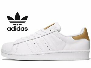 free shipping feac8 2f5d2 ... Adidas-Originals-Superstar-Cuir-hommes-Tailles-UK-10-
