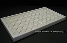 1 White 50 Jar Tray Use For Gems Beads Coins Gold Nuggets Body Jewlery Display