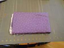 Fabric Country 1 yard 32 Inches White Flowers Black Dots on Lavender Cotton