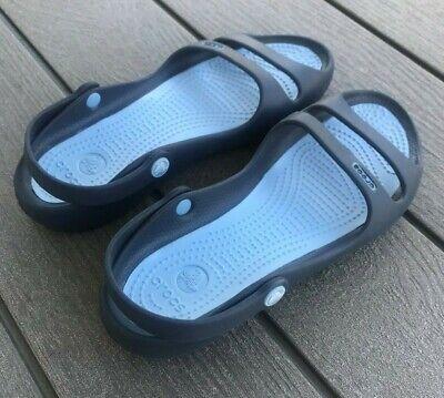 CROCS Navy Blue sandal w/back strap | eBay