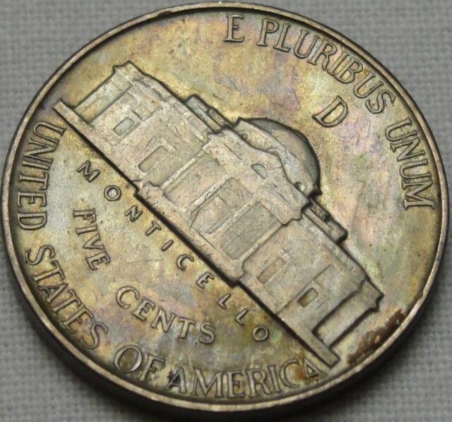 1944-D 5C Jefferson Nickel, Toned, BU, UNC, War Nickel, Silver, #10155