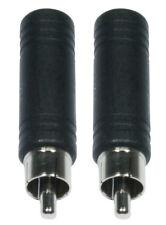 2 x Adapterstecker Cinch auf Klinkenbuchse 6,35 Audioadapter