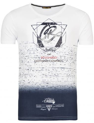 3d print-stiloverso-Clothing Company-Blanc T-Shirt-Homme Shirt