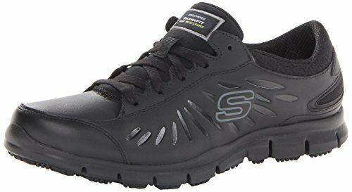 Skechers for Work Womens Eldred Shoe, Black, 7 M US