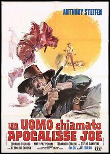UN UOMO CHIAMATO APOCALISSE JOE MANIFESTO SPAGHETTI WESTERN 1970 MOVIE POSTER 2F