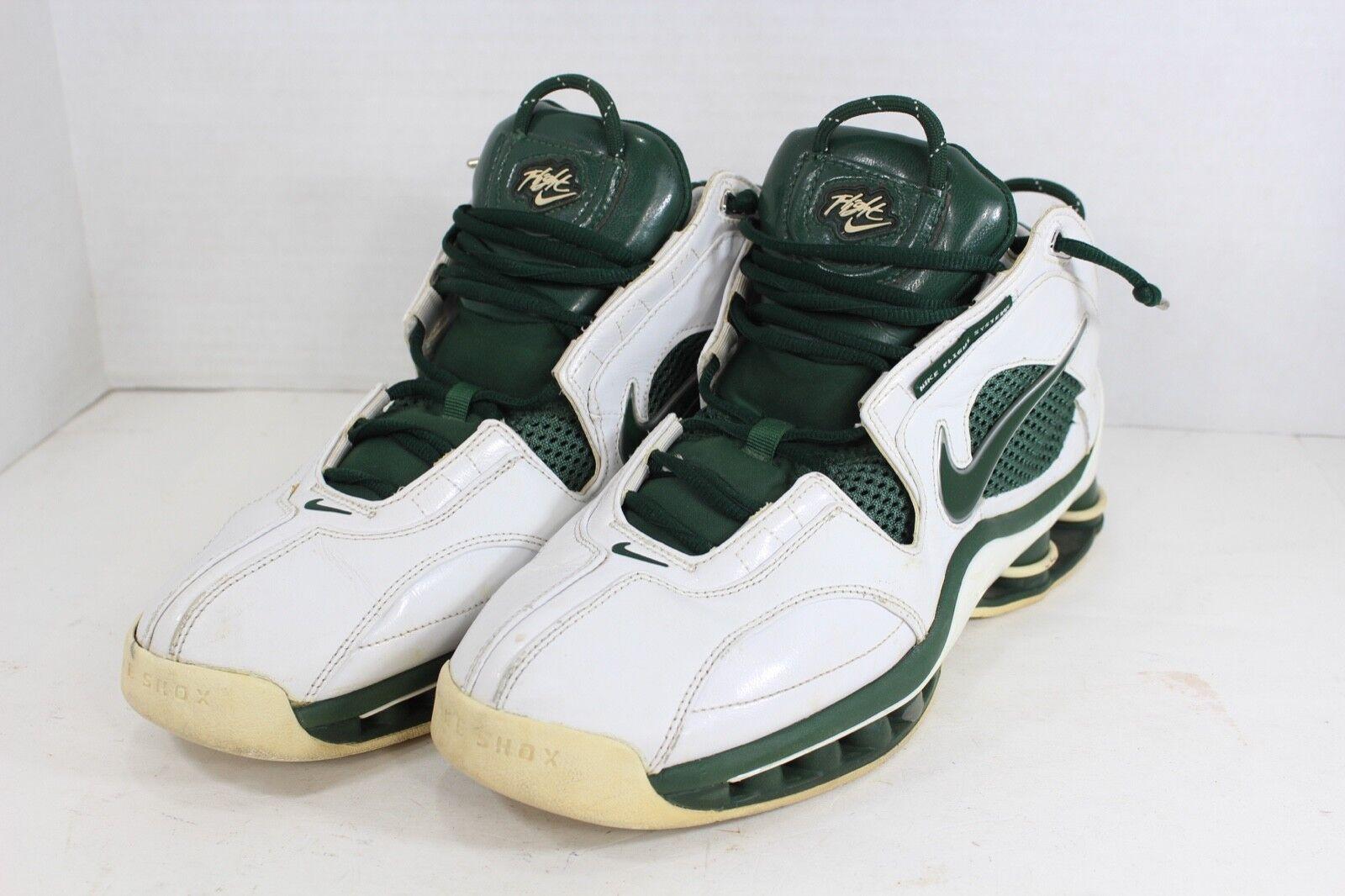 Vintage Nike Mens 11 Shox Flight Basketball Cross Training Running shoes Green